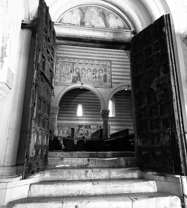 1000 years old church door