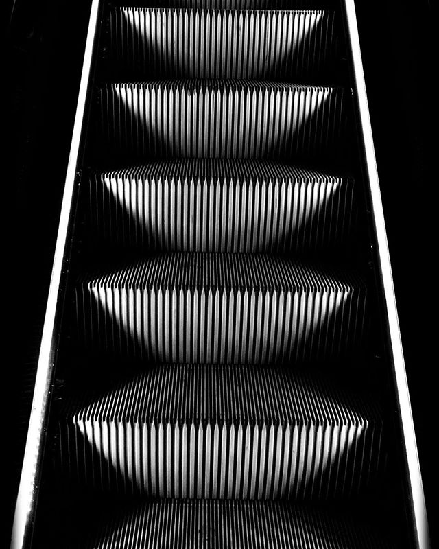 Escalator by night