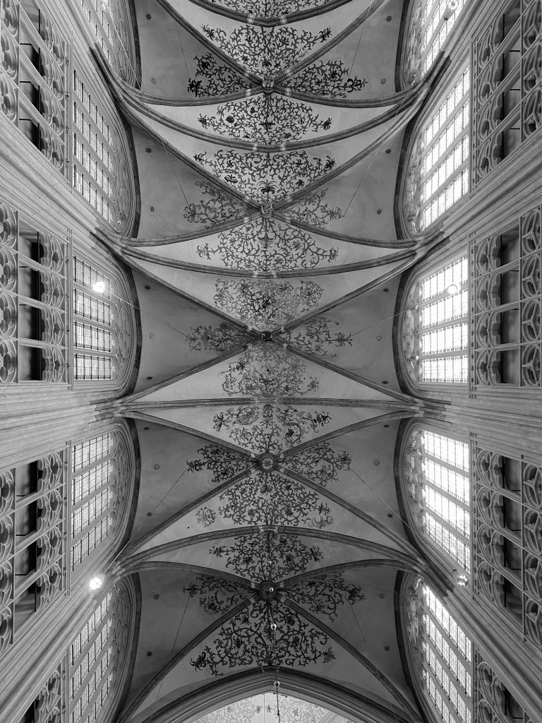 Saint John's Cathedral in black and white