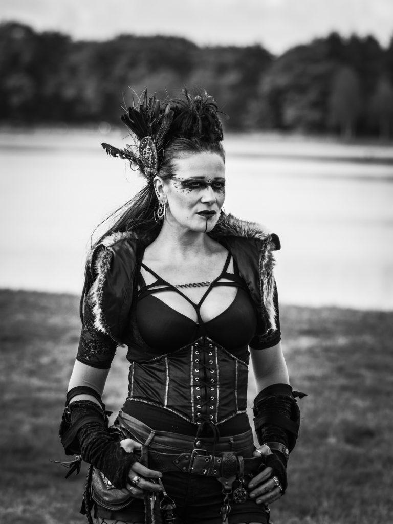 Steampunk warrior woman Fairyina