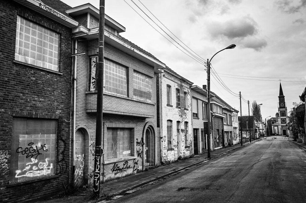 Belgium ghost town Doel
