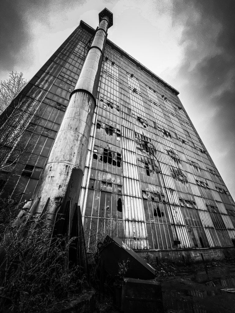 Dirty factory in Liege